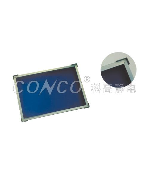 Bandeja de hojas corrugadas + marco de aluminio + esquina